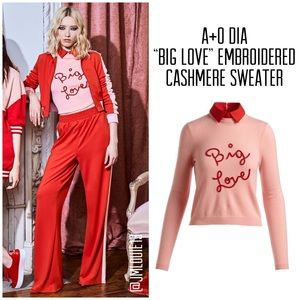 Alice + Olivia Dia Big Love Embroidered Sweater